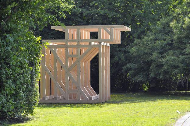 370x450x330 cm, Douglasie Holz, 2011
